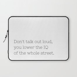 Don't talk - Sherlock - TV Show Collection Laptop Sleeve