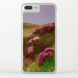 Connemara Ireland Travel Poster Vintage Style Clear iPhone Case