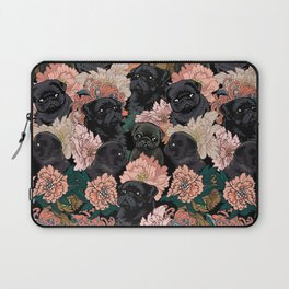 Because Black Pug Laptop Sleeve