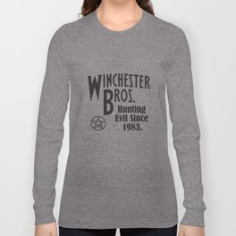 Winchester Bros Hunting Evil Since 1983 Ladies Supernatural T-Shirts Long Sleeve T-shirt