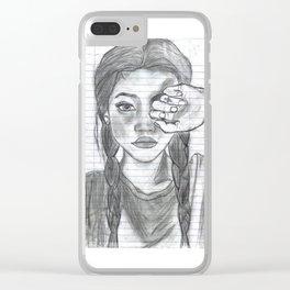 Tumblr girl Clear iPhone Case