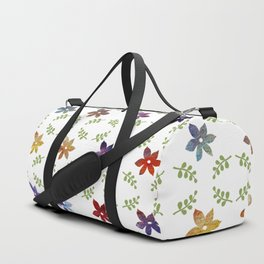 Abstract modern colorful watercolor lavender floral illustration Duffle Bag