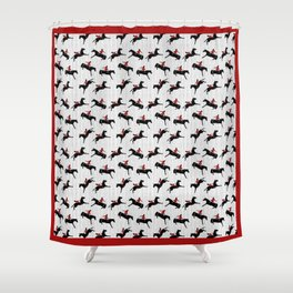 The Show Jumpers Shower Curtain