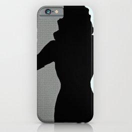 Woman Femme Fatale Silhouette and Smoke iPhone Case