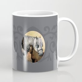 Plow Horse and Foal Coffee Mug