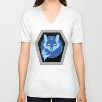 hologram V-neck T-shirts featuring Visionaries Fox by cardboardLAB