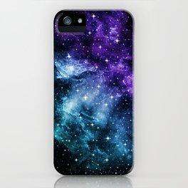 Purple Teal Galaxy Nebula Dream #1 #decor #art #society6 iPhone Case