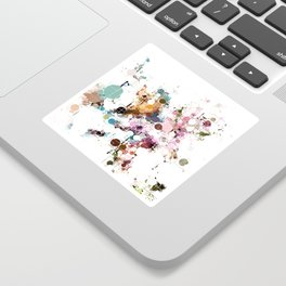 Decorative Subdued Pastel Pattern Abstract Sticker