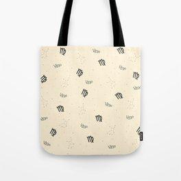 Virgo Pattern - Beige Tote Bag