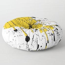 Spiderweb spiders ink splash Floor Pillow