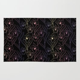Wild orchids  #Orchid Rug