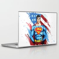 man of steel Laptop & iPad Skins featuring Man of Steel by Dave Franciosa