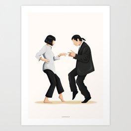 Pulp Fiction Twist Dance Art Print