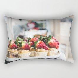 Strawberry Tartes Rectangular Pillow