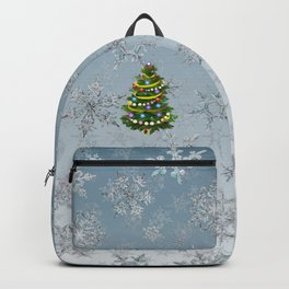 Christmas tree & snow Backpack
