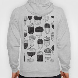 Doodle acorns in black and white Hoody