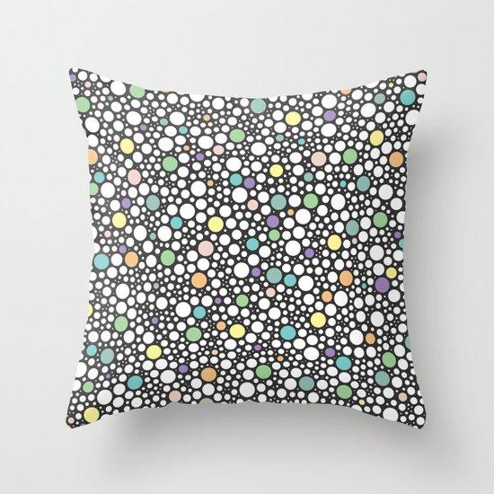 pastel puzzle bubble 3 Throw Pillow