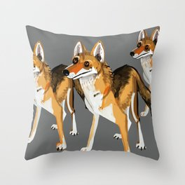 Senegalese Wolf in grey Throw Pillow