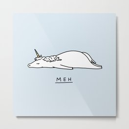 Meh Unicorn Metal Print