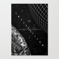interstellar Canvas Prints featuring Interstellar by Amanda Mocci