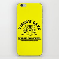 wrestling iPhone & iPod Skins featuring Tiger's cave wrestling school by CarloJ1956