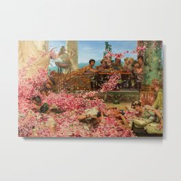 1888 Classical Masterpiece 'The Roses of Heliogabalus' by Sir Lawrence Alma-Tadema Metal Print