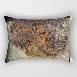 afro girl white background 1 Rectangular Pillow