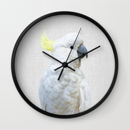 White Cockatoo - Colorful Wall Clock
