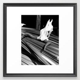 Steer Skull Framed Art Print