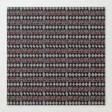African Tribal Mudcloth Pattern Canvas Print