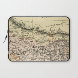 Vintage and Retro Map of Northern India Laptop Sleeve