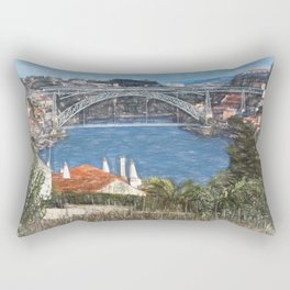 Louís1 Bridge Porto as  Digital Art Rectangular Pillow