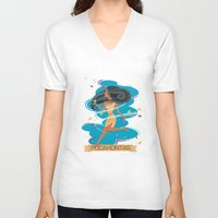 pocahontas V-neck T-shirts featuring Pocahontas by LindseyCowley