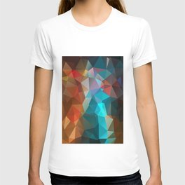 Abstract bright background of triangles polygon print illustration T-shirt