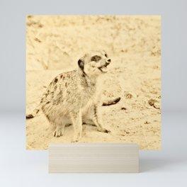 Vintage Animals - Meerkat Mini Art Print