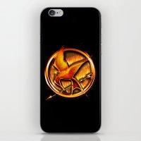 mockingjay iPhone & iPod Skins featuring Mockingjay by Joshua Epling