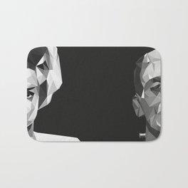 Frankenstein and Bride of Frankenstein Poly Art Bath Mat