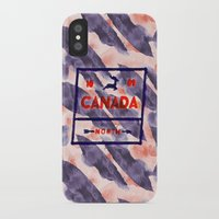 canada iPhone & iPod Cases featuring CANADA by Tania Orozco