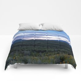 Evening Mountains Comforters