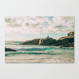 Aqua waters Canvas Print