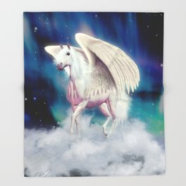 PEGASUS RISING Throw Blanket