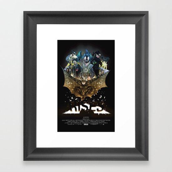 you're COLOR rises Framed Art Print