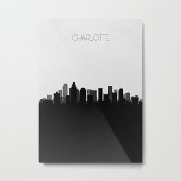 City Skylines: Charlotte Metal Print