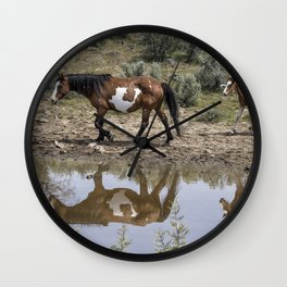 Matching Pair - South Steens Mustangs Wall Clock