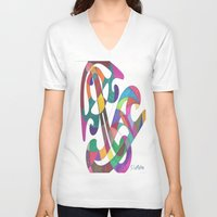 inspiration V-neck T-shirts featuring Inspiration by SaraLaMotheArt