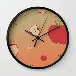 Apple simple Design with smooth Background Wall Clock