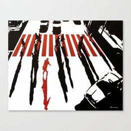 La malette rouge Canvas Print