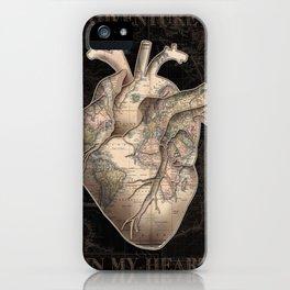 adventure heart-world map iPhone Case