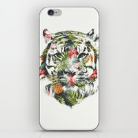 tiger iPhone & iPod Skins featuring Tropical tiger by Robert Farkas