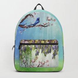 Purple Wisteria Springtime Backpack